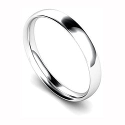 Hugh Rice Platinum 3mm Traditional Court Wedding Ring