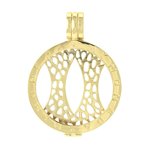 Mi Moneda Gold Plated Silver Small Pendant Coin Holder