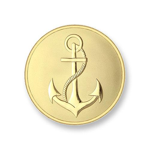 Mi Moneda Gold Plated Anchor & Faith Small Coin