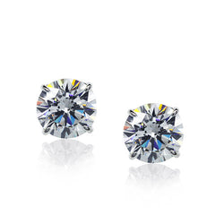 Carat 1.00ct Zirconia White-Gold Stud Earrings