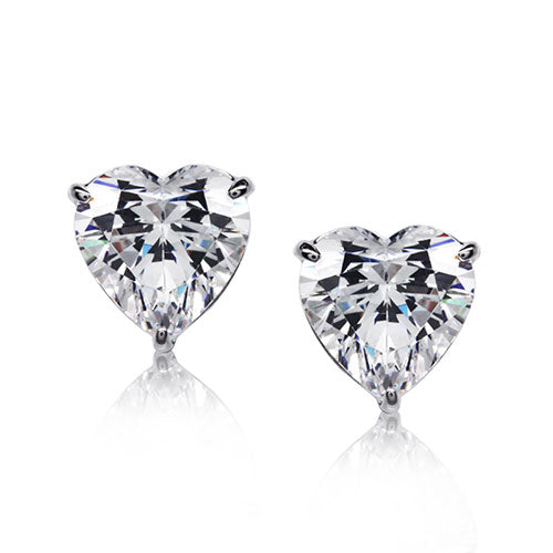 Carat 1.00ct Hearts For You White Gold Stud Earrings