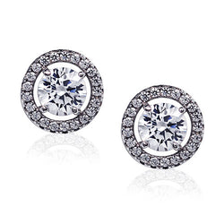 Carat 0.50ct Zirconia & Silver Stud Earrings