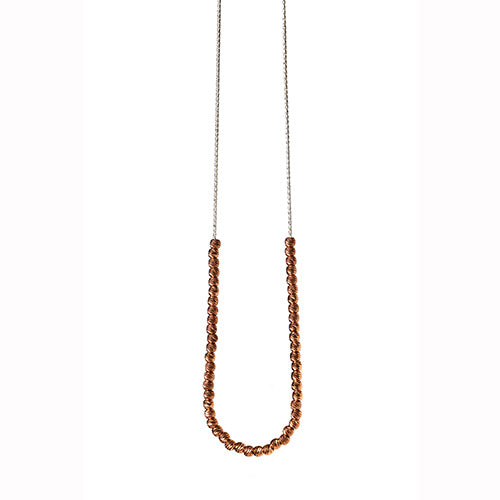 Babette Wasserman Moonball Rose Gold Plated Necklace