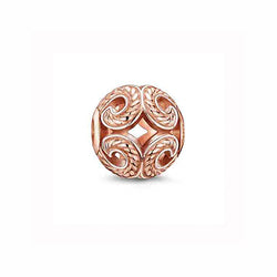 Thomas Sabo Rose Gold Plate Wave Karma Bead