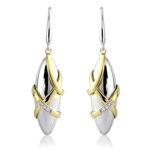 Mark Milton Silk Diamond Criss Cross Earrings
