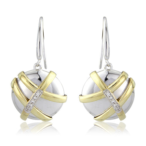 Mark Milton Silk Diamond Pebble Earrings