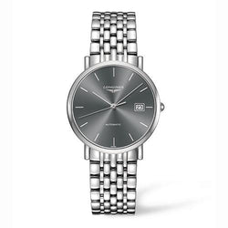 Longines Elegant Black & Steel 34.50 mm Automatic Gents Watch