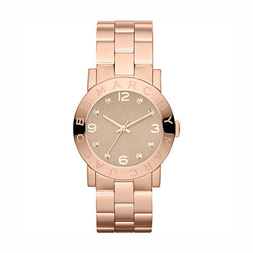 Marc Jacobs Ladies Amy Rose Golden Tone Watch