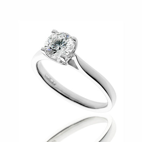 Hugh Rice Platinum & Graded Diamond 1.01ct Solitaire Ring