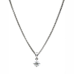 Hugh Rice White Gold Diamond Solitaire Pendant