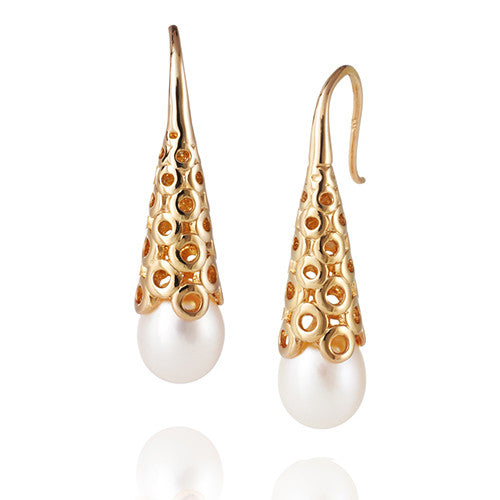 Jersey Pearl White Pearl Muse Earrings