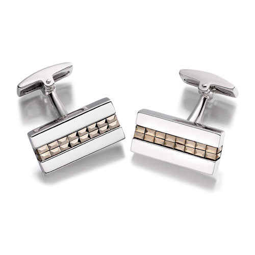 Hoxton London Silver Pyramid Cufflinks
