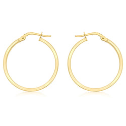 Hoxton 9 ct Gold Polished Creole Earrings