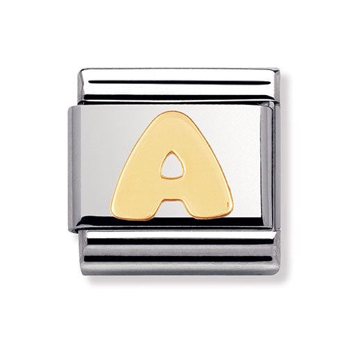 Nomination Composable Classic 18ct Gold Letter A Charm