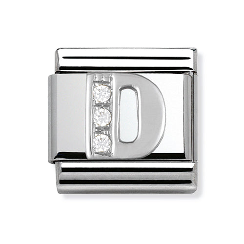 Nomination Composable Classic Silver Letter D Zirconia Charm