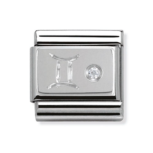 Nomination Composable Classic Silver & Zirconia Gemini Charm