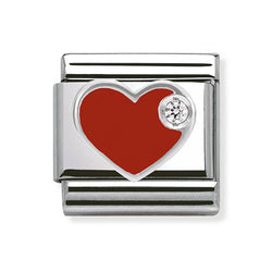 Nomination Composable Classic Zirconia Red Heart Charm