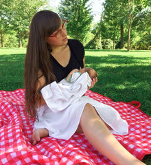 Short Sleeved Cowl Neck Breastfeeding Shirt