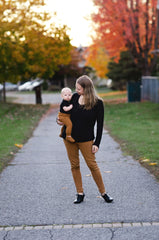 Long Sleeved Pleated Breastfeeding Shirt