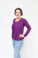 Pleated Nursing Top - Long Sleeve