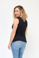 Cowl Neck Nursing Top - Sleeveless