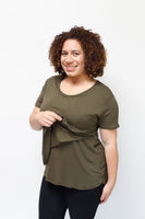 Scoop Neck Nursing Tee