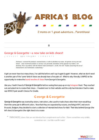 George & Georgette Review Africasblog