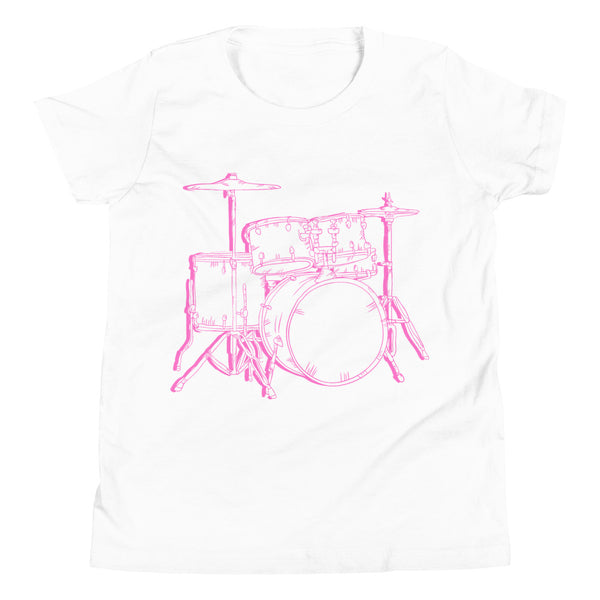 George & Georgette, Drum Set T-Shirt (Youth), , mismatched shoes