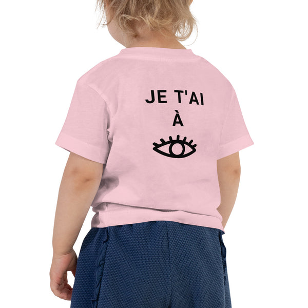 George & Georgette, Je t'ai à l'oeil / I am watching you T-Shirt (Toddler), , mismatched shoes