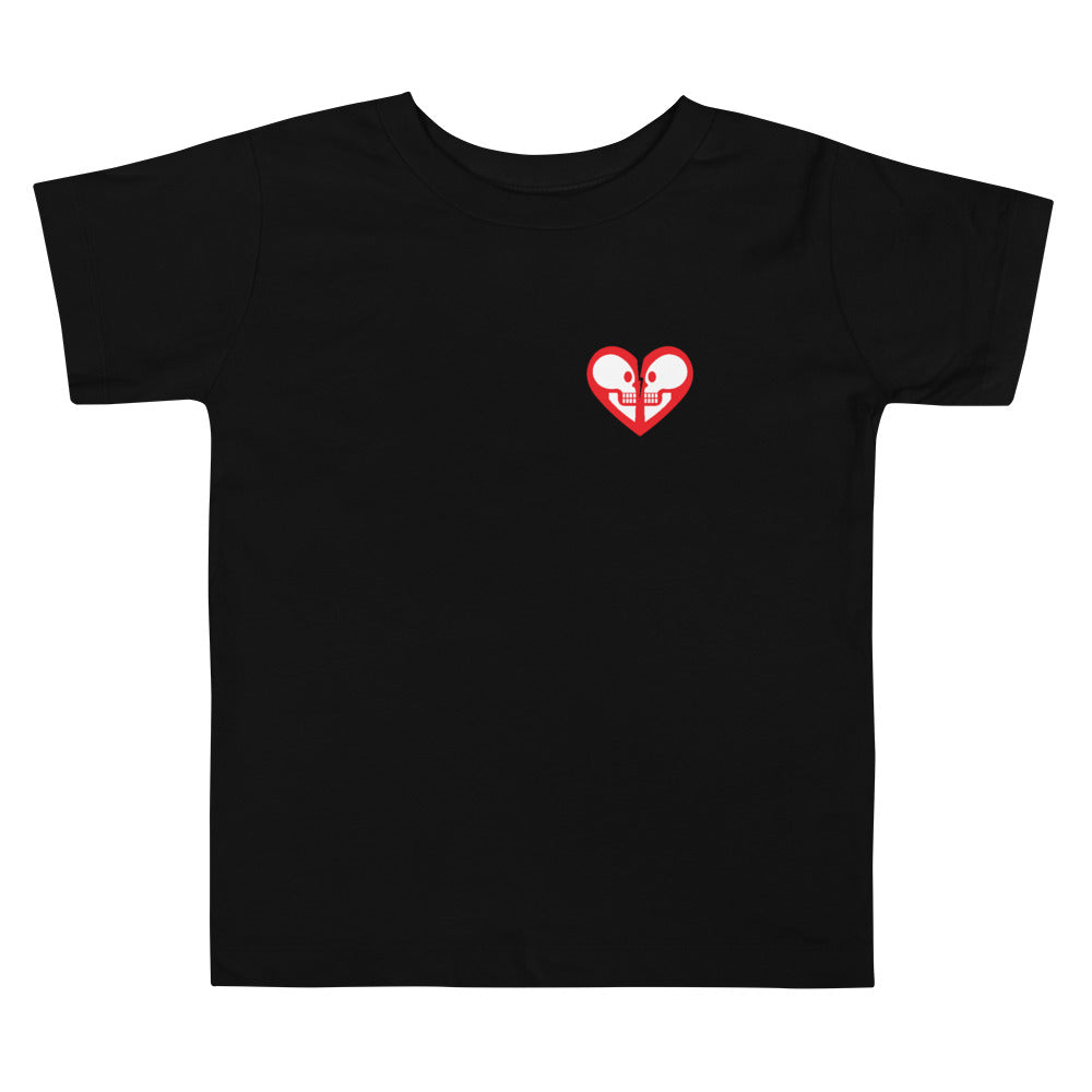 George & Georgette, Heart Skull T-Shirt (Toddler), , mismatched shoes