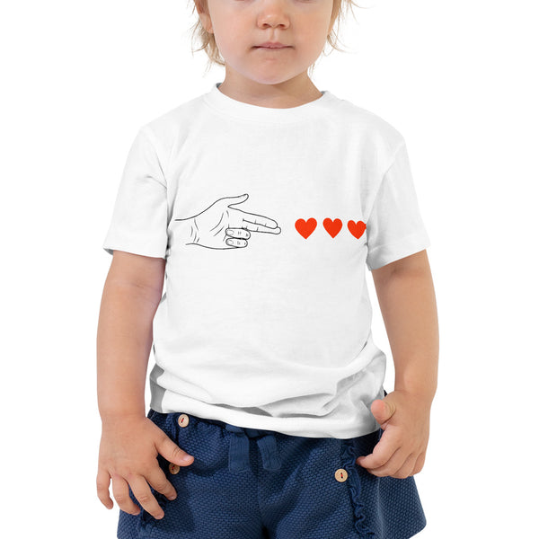 George & Georgette, Love Bang Bang T-Shirt (Toddler), , mismatched shoes