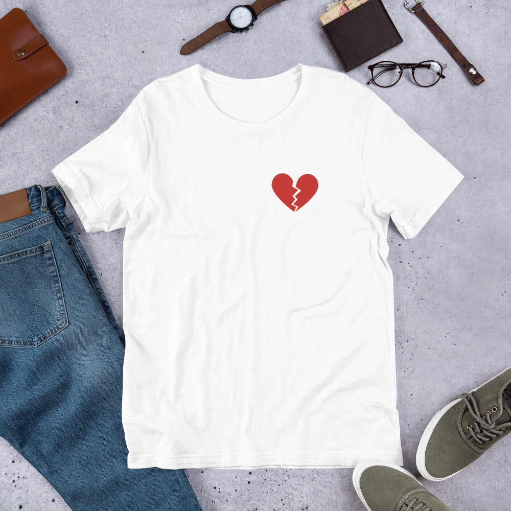 George & Georgette, Broken Heart T-Shirt, , mismatched shoes