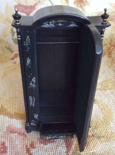Bespaq Closet Cabinet Armoire Wardrobe Press 1:12 Dollhouse Miniature