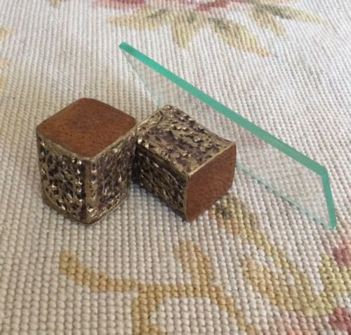 Table Glass Top Coffee 1:12 Dollhouse Miniature