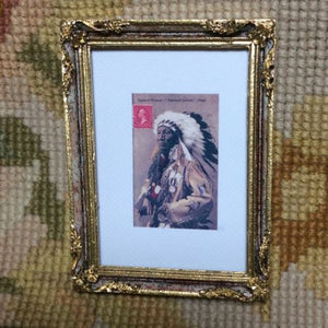 Painting Picture American Indian 1:12 Dollhouse Miniature Art