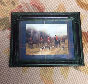 Painting Picture Hunt Scene 1:12 Dollhouse Miniature Art