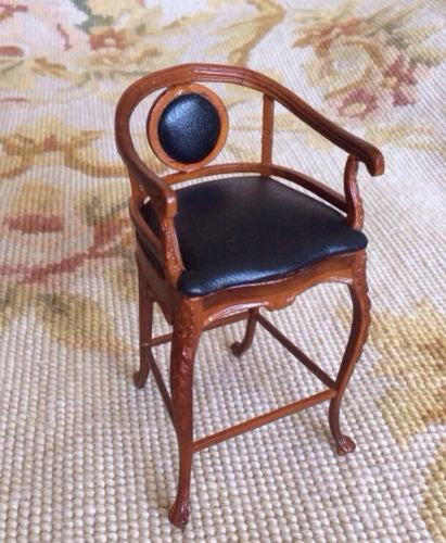 Bespaq Chair High Bar Stool Seat 1:12 Dollhouse Miniature