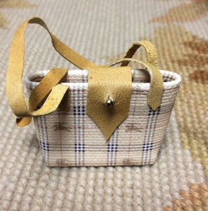 Purse Designer Bag Luggage Valise Handbag Medium 1:12 Dollhouse Miniature
