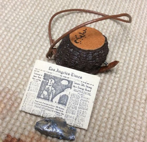Fishing Creel Wicker Basket Container 1:12 Dollhouse Miniature