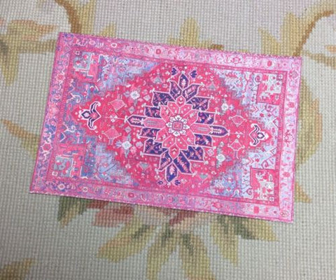 Floorcloth Rug Carpet Small 1:12 Dollhouse Miniature