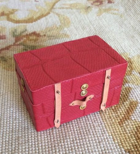 Trunk Chest Flat Top 1:12 Dollhouse Miniature