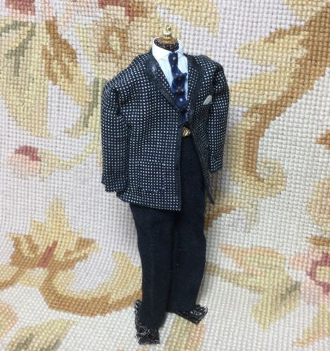 Dress Form Mannequin Male Figure 1:12 Dollhouse Miniature Outfit