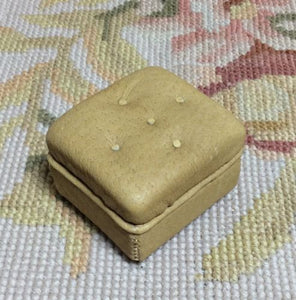 Stool Ottoman Seat Leather 1:12 Dollhouse Miniature