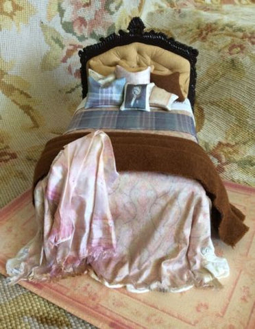 Bed Dressed 1:2 Dollhouse Miniature