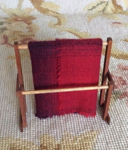 Blanket Rack Holder 1:12 Dollhouse Miniature Other Artist