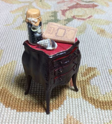 Bespaq Table Chest Night Stand 1:12 Dollhouse Miniature