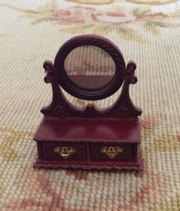 Bespaq Jewelry Box Vanity Case Mirror 1:12 Dollhouse Miniature