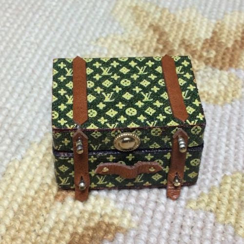 Luggage Suitcase Bag Valise Designer Small 1:12 Dollhouse Miniature