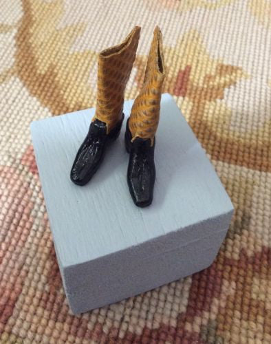 Boots with Leather Top 1:12 Dollhouse Miniature