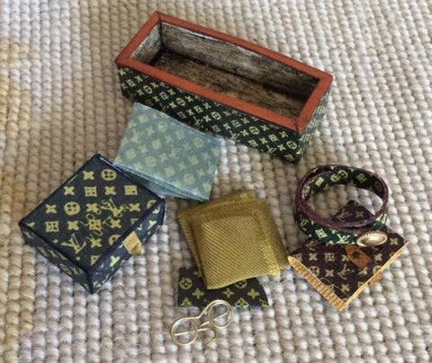 Box Designer Belt Book Collection 1:12 Dollhouse Miniature
